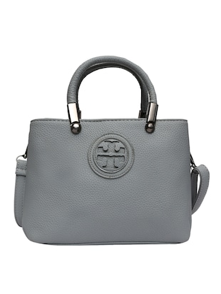 grey leatherette  handbag