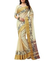 beige cotton chanderi saree -  online shopping for Sarees