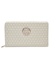 White Faux Leather Clutch - By - 1308835