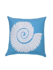 Blue Tie & Dye Cotton Cushion Cover - By