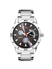 silver stainless steel analog wdasatch -  online shopping for Analog Watches