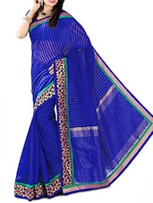 Blue Banarasi Silk Saree - By