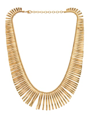 Solid gold brass necklace