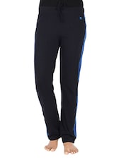 Navy Blue Cotton Track Pants - By