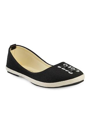 black canvas slip on ballerina
