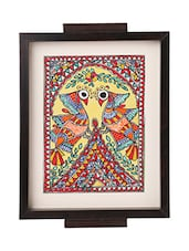 iMithila Madhubani Folk Art Decorative Multicolored Tray with two Dancing Peacocks -  online shopping for Trays
