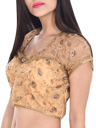 gol cotton blend brocade blouse -  online shopping for Blouses