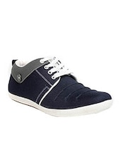 navy canvas lace up shoes -  online shopping for Shoes