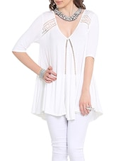 white viscose top -  online shopping for Tops