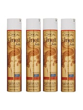 L'Oreal Paris Elnett Satin Hairspray, Strong Hold (Pack Of 4) Hair Styler - By