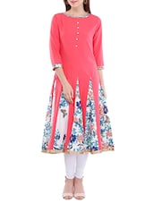 pink none anarkali kurta -  online shopping for kurtas
