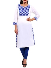white cotton straight kurta -  online shopping for kurtas