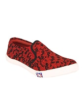 red canvas slip on shoes -  online shopping for Shoes