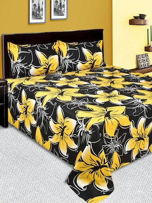 Indian Online Mall 100% cotton Double Bedsheet with 2 Pillow Cover