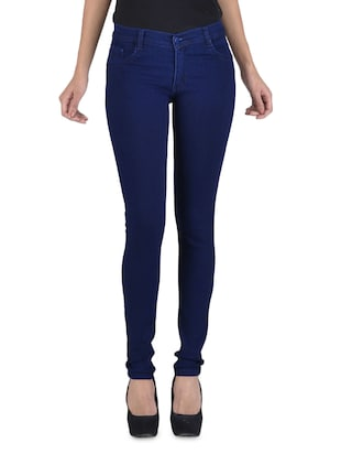 Dark blue stretchable jeans