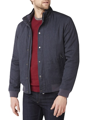 grey polyester casual jacket