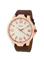 round analog dial leather strap watch -  online shopping for Analog Watches