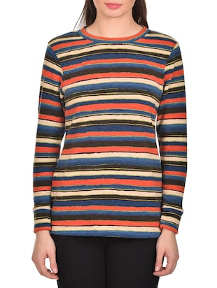 multi colored regular sweatshirt