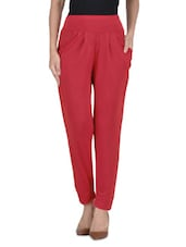 Red Poly Spandex Pant - By