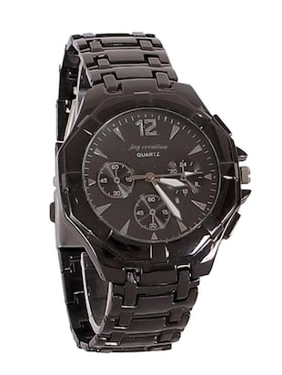 Jay Creation Black Metal Men's Analog Watch -  online shopping for Chronograph Watches