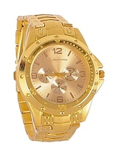 Jay Creation Golden Metal Men's Analog Watch -  online shopping for Analog Watches