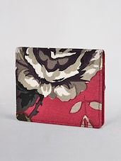 Pink Floral Printed Canvas Card Holder - By