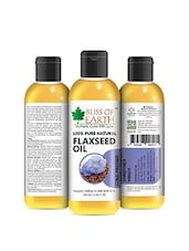 Bliss Of Earth 100% Pure Natural Flaxseed Oil 100ML Coldpressed & Unrefined - By