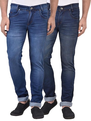 blue set of 2 denim washed jean