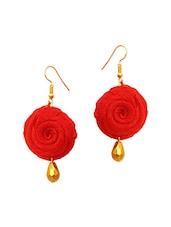 red nylon drop earring -  online shopping for earrings