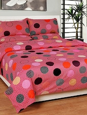 Cotton Double Bed Bedsheet With 2 Pillow Covers -  online shopping for bed sheet sets