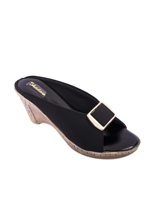 black slip on wedge