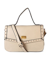 beige leatherette handbag -  online shopping for handbags