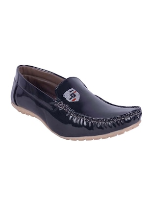 black patent leather slip on loafers -  online shopping for Loafers