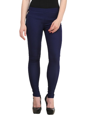 navy blue cotton jeggings
