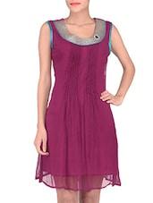Pink Chiffon Sleeveless Dress - By
