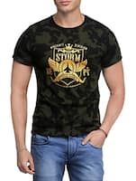 green cotton camouflage t-shirt -  online shopping for T-Shirts