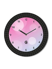 Multicolored Plastic And Glass Printed Wall Clock - By - 1325647