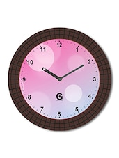 Multicolored Plastic And Glass Ganesha Designed Bubble Printed Wall Clock - By