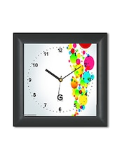 Multicolored Plastic And Glass Bubble Printed Wall Clock - By