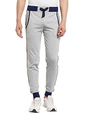 grey cotton  full length track pant -  online shopping for Track Pants