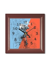 Multicolored Plastic And Glass Camera On Tripod Printed Wall Clock - By
