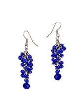 blue metal chandellier earring -  online shopping for earrings