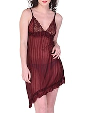 maroon satin babydoll -  online shopping for Babydolls