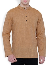 brown cotton kurta -  online shopping for Kurtas