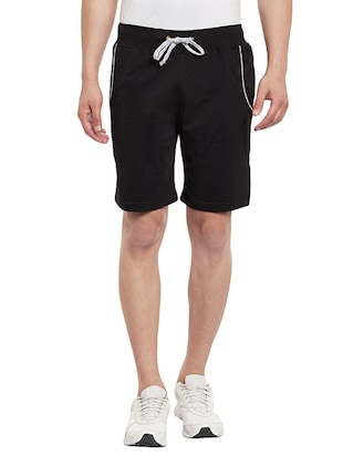 black cotton short -  online shopping for Shorts
