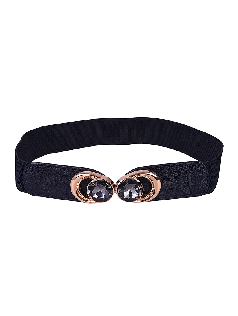 Black Leatherette (pu Belt - By - 13290257