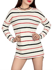 white striped poly cotton dress -  online shopping for Dresses