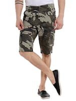 military green camouflage cotton short -  online shopping for Shorts