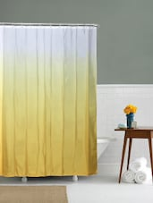 @home by Nilkamal Yellow Gradation Yellow Shower Curtains -  online shopping for shower curtains