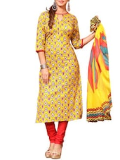 yellow salwar stitched suit -  online shopping for Stitched Suits